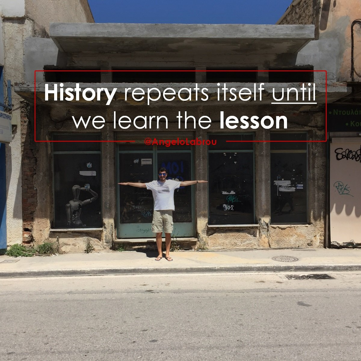 History repeats itself until we learn the lesson