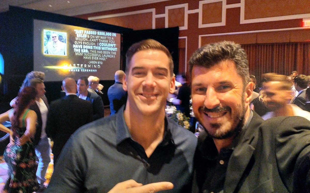 Chasing Greatness Producer Lewis Howes with Angelo Labrou in Las Vegas