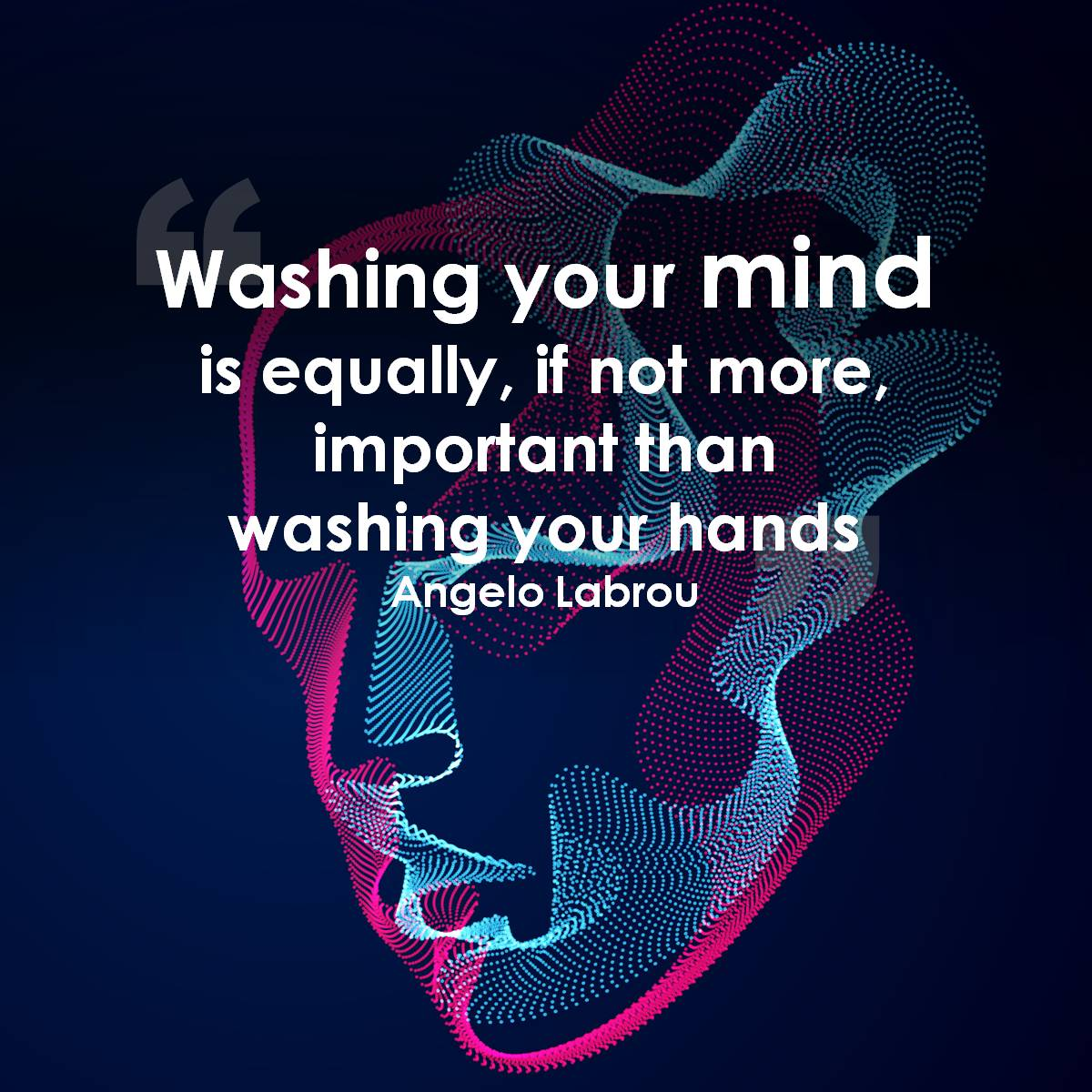Coronavirus: Wash your mind as well as your hands