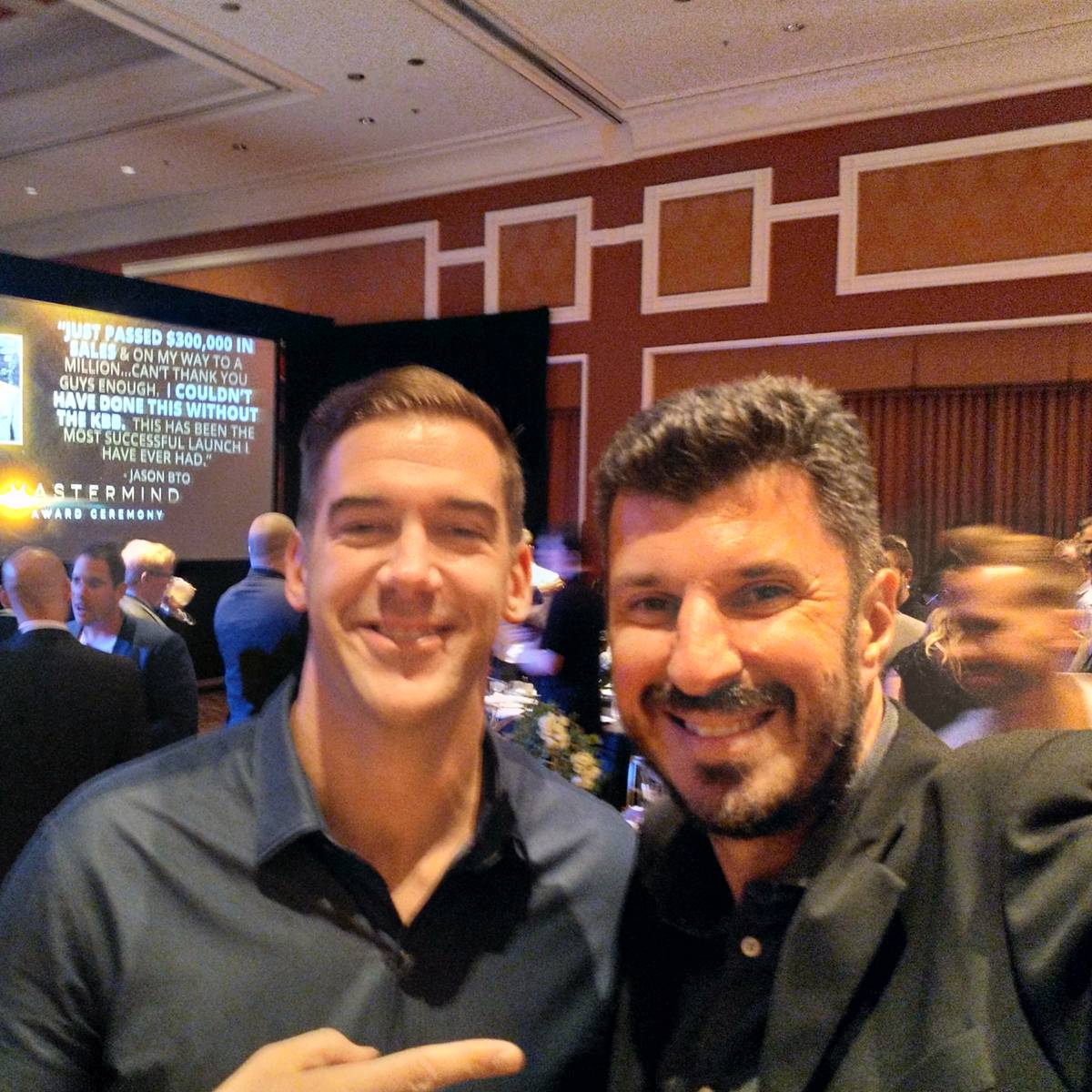 Lewis Howes and Angelo Labrou at KBB Party in Las Vegas
