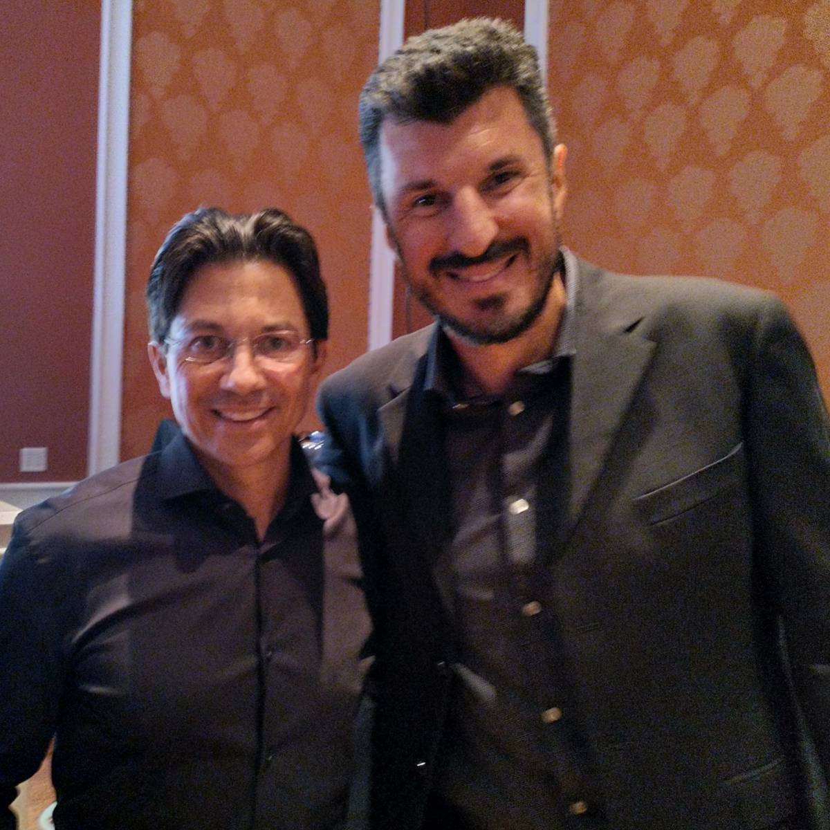 Dean Graziosi and Angelo Labrou at KBB Party in Las Vegas