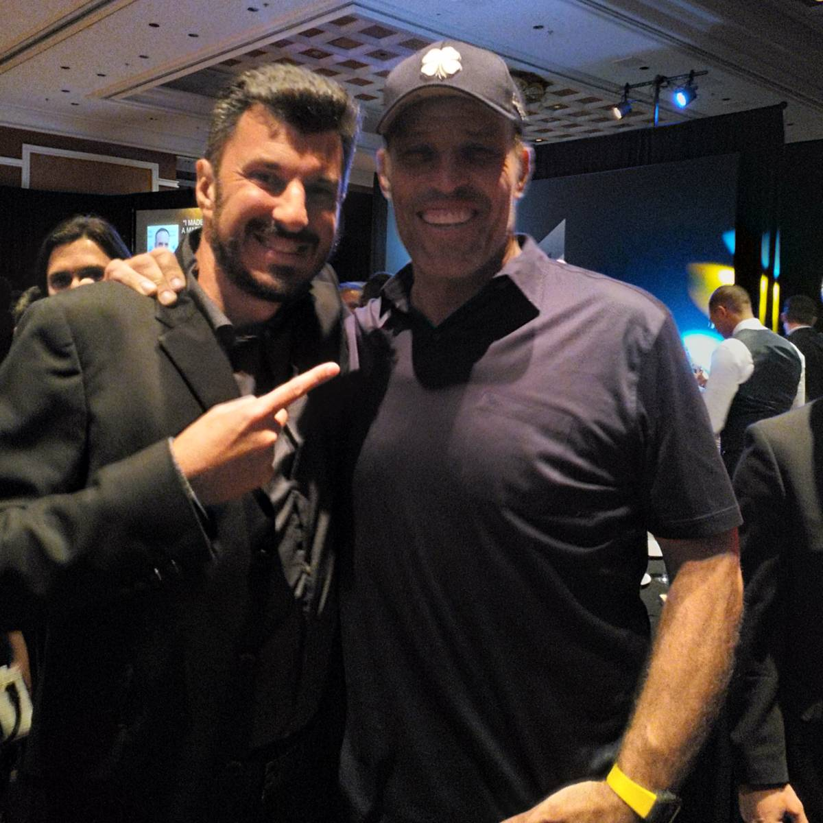 Tony Robbins and Angelo Labrou at KBB Party in Las Vegas