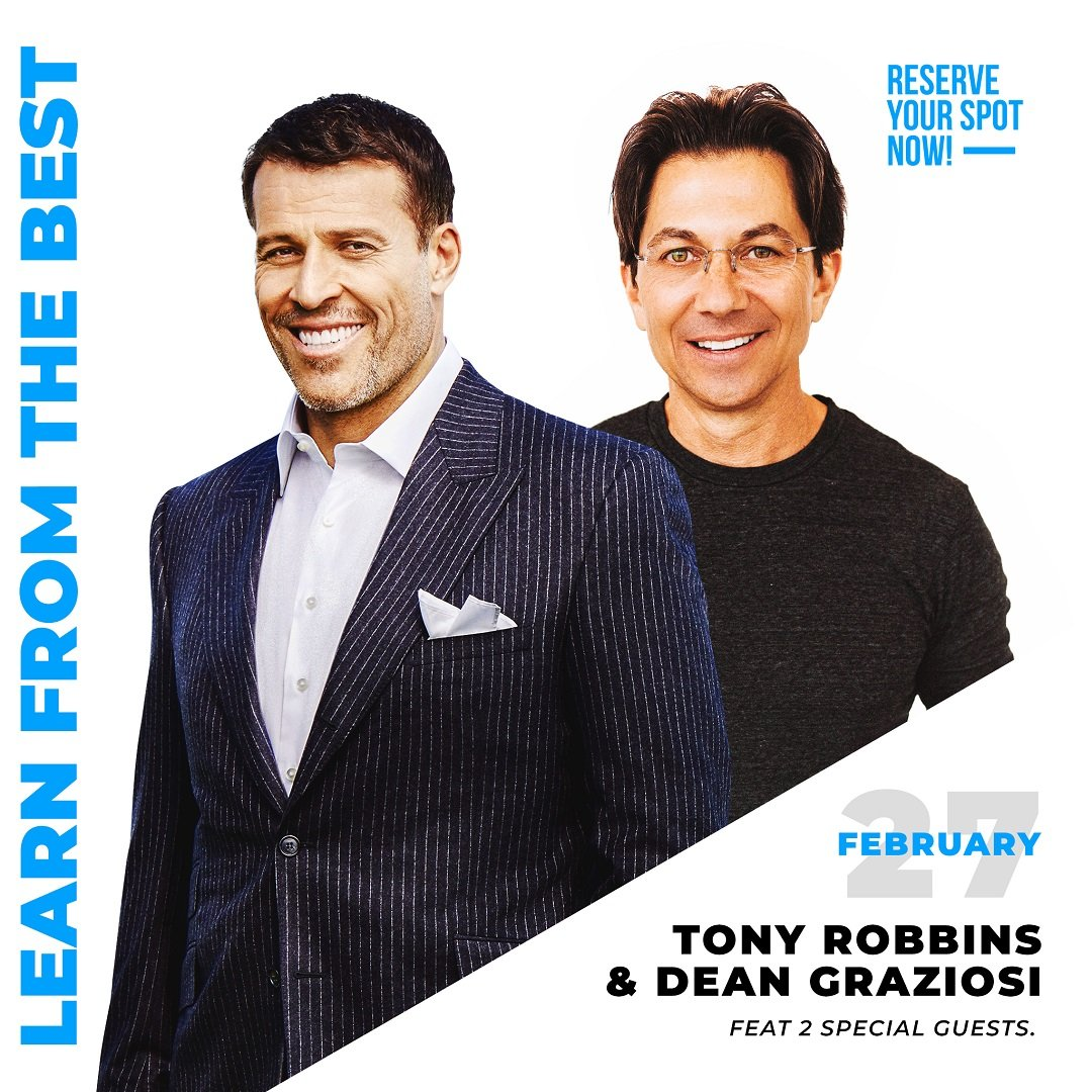 Knowledge Broker Blueprint LIVE: Tony Robbins and Dean Graziosi reveal the KBB Method